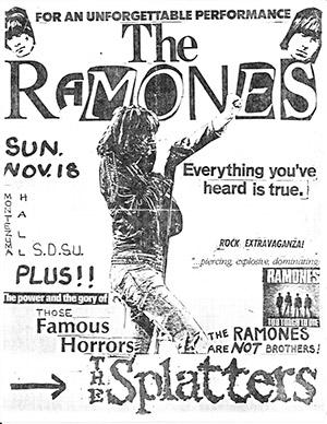 Digital scan of punk concert flyer in the Library's Punk collection
